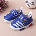 Baby Sport Shoes Leather fashion brand Red blue Boys Girls Baby good quality casual shoes Sneakers Comfortable Kids Flats Shoes