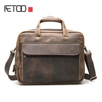 AETOO The First Layer Of Crazy Horse Cowhide Leather Foreign Trade European And American Retro Men