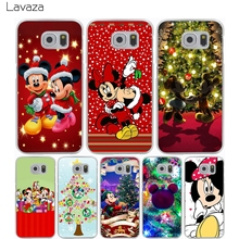 Lavaza Christmas Mickey Minnie Hard Transparent Cover Case for Samsung Galaxy S7 Edge S6 S8 Edge Plus S5 S4 S3 & Mini S2