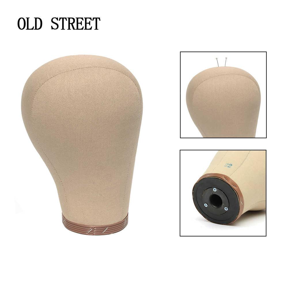 """22 """"Cork Canvas Hoofd Mannequin Hoofd Oefenpop Hoofd Kurk Binnen Voor Maken Pruiken Drogen Styling Coloring 1 Houder 100 Pcs Tpins"""
