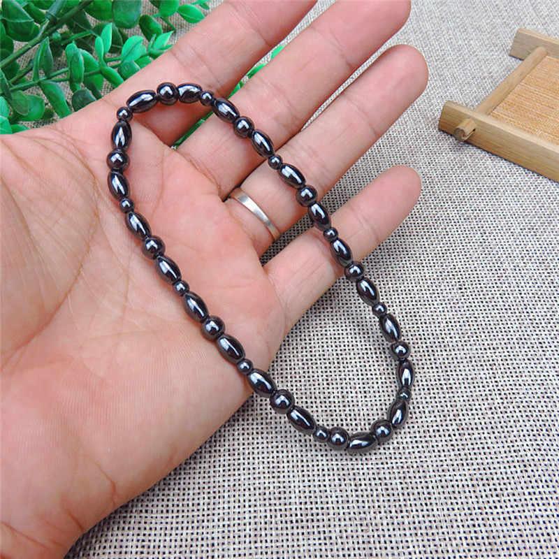 משקל אובדן אנטי צלוליט שחור אבן טיפול מגנטי Anklets צמיד בריאות Biomagnetism מגנט יד קישוט גברים נשים
