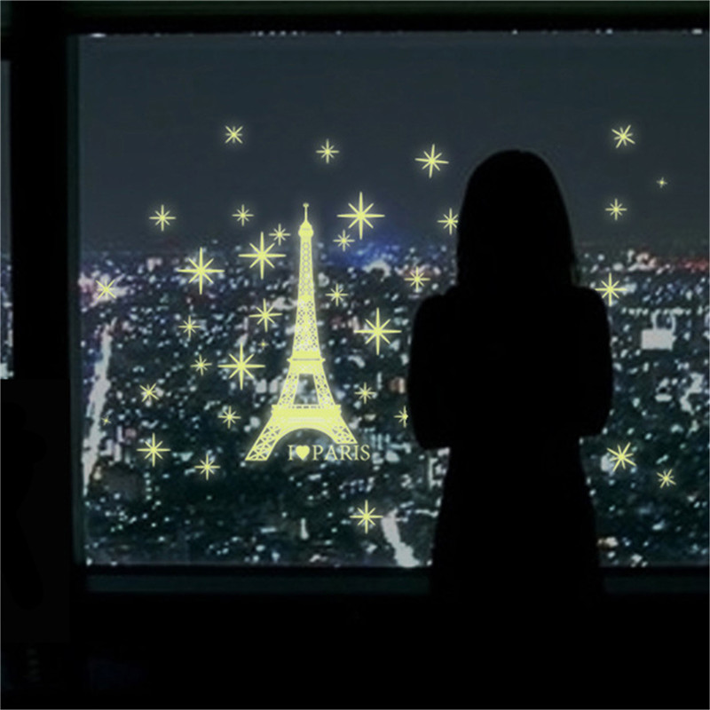 2016 art romantic paris eiffel tower night luminous. Black Bedroom Furniture Sets. Home Design Ideas
