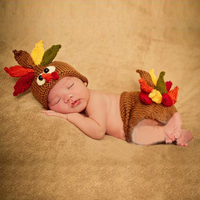 New Animal Pattern Baby Photography Prop Kids Boys Girls Turkey Crochet Knit Costume Outfit Photo Accessories