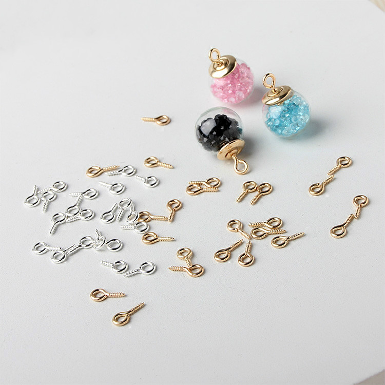 DIY Metal Accessories Ofsheep Nail 9 Word Needle Crystal Epoxy Resin Clay Screw Drill Claw Nail Pendant