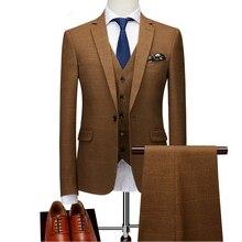 Мужской приталенный дизайнерский пиджак в клетку, модный новейший индивидуальный пиджак, Классический роскошный мужской блейзер