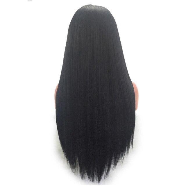 Pelucas de cabello humano de 2017 * para mujer peluca larga recta con encaje frontal con pelo de bebé