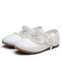 1 2 3 4 5 6 7T New Baby Girls Leather Shoes Flower Kids Shoes Princess Cocktail Party Shoes For Baby Girls Wedding Dress Shoes cheap OCQBI Cow Muscle Fits true to size take your normal size Flat with black white Beige Spring Summer Autumn 1 2 3 4 5 6 7 8Years Old Kids
