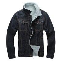 CLASSDIM Winter Warm Denim Jackets New Men Wool Liner Thicker Warm D Coats Outerwear Winter Denim