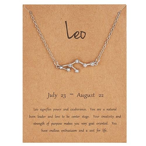 Rinhoo трендовые блестящие хрустальные звёздные Знаки зодиака 12 созвездий подвески ожерелья женские элегантные серебряные ожерелья-чокер ювелирные изделия - Окраска металла: 7