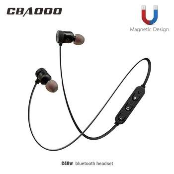 CBAOOO Wireless Bluetooth Earphone Olahraga headset bluetooth lubang suara Magnetik dengan mikrofon untuk xiaomi Android iphone