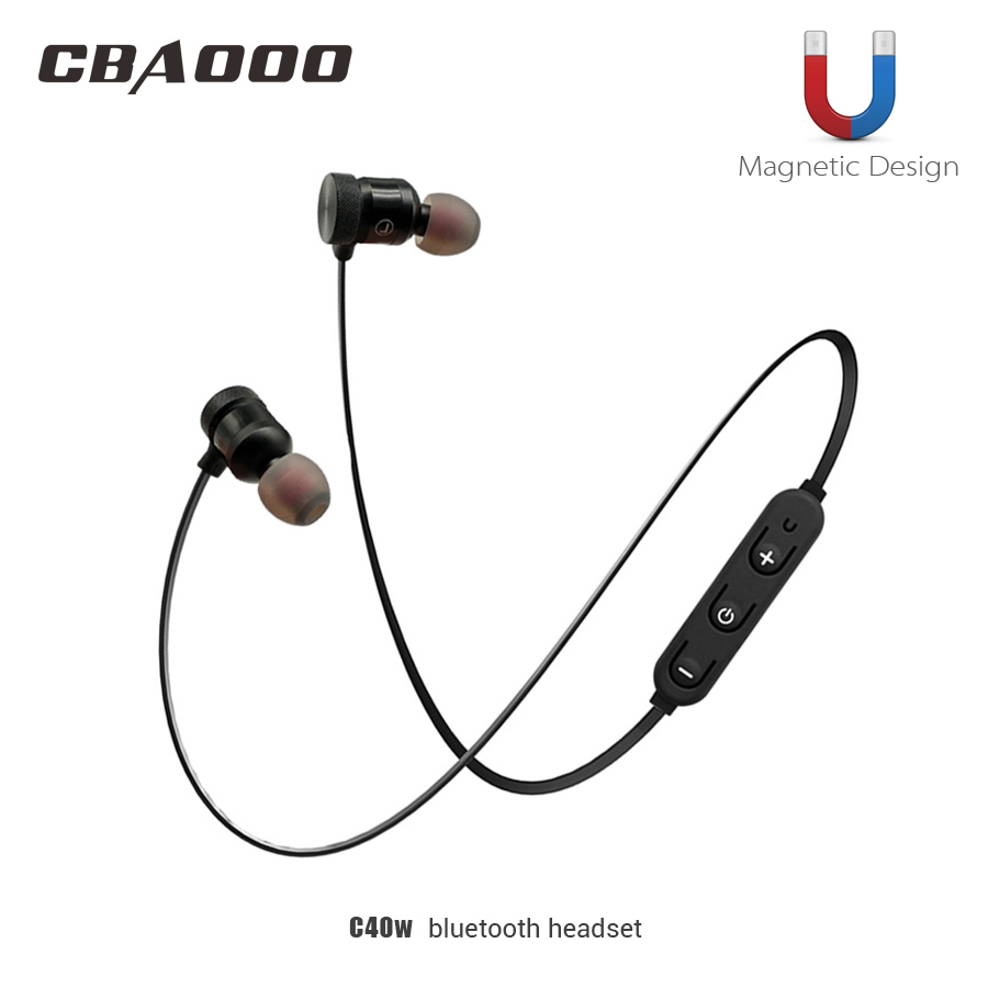 CBAOOO Wireless Bluetooth Earphone Sport headset bluetooth earpiece Magnetic with microphone for xiaomi Android iphone цена