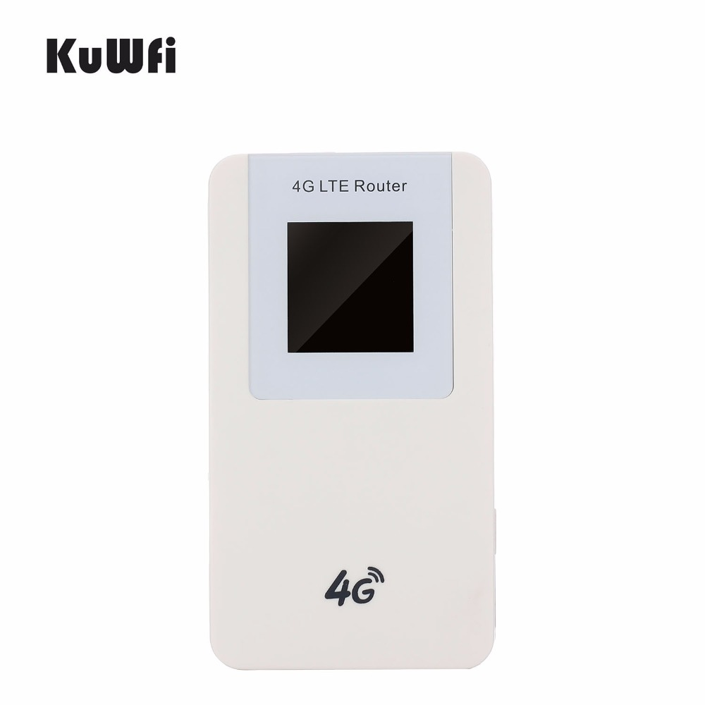 KuWfi 4620mAH Power Bank LTE 4G Wifi Router Pocket 3G Wireless Router WPS with SIM card Slot for Travel up to 10 Wifi Users 4g wifi router unlocked 3g 4g lte travel router 5200mah power bank fdd lte car wifi router with sim card slot up to 10 users