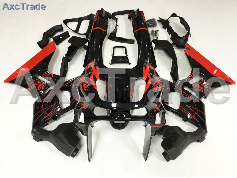 Motorcycle Fairings Kits For Kawasaki Ninja ZX10R ZX-10R 2004 2005 04 05 ABS Plastic Injection Fairing Bodywork Kit Black Red
