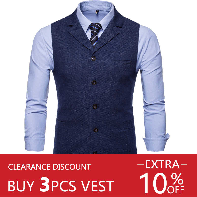 Riinr Hochzeit Kleid Hochwertige Waren Baumwolle Männer der Mode-Design Anzug Weste Grau Schwarz High-end-herren Business casual Anzug Weste
