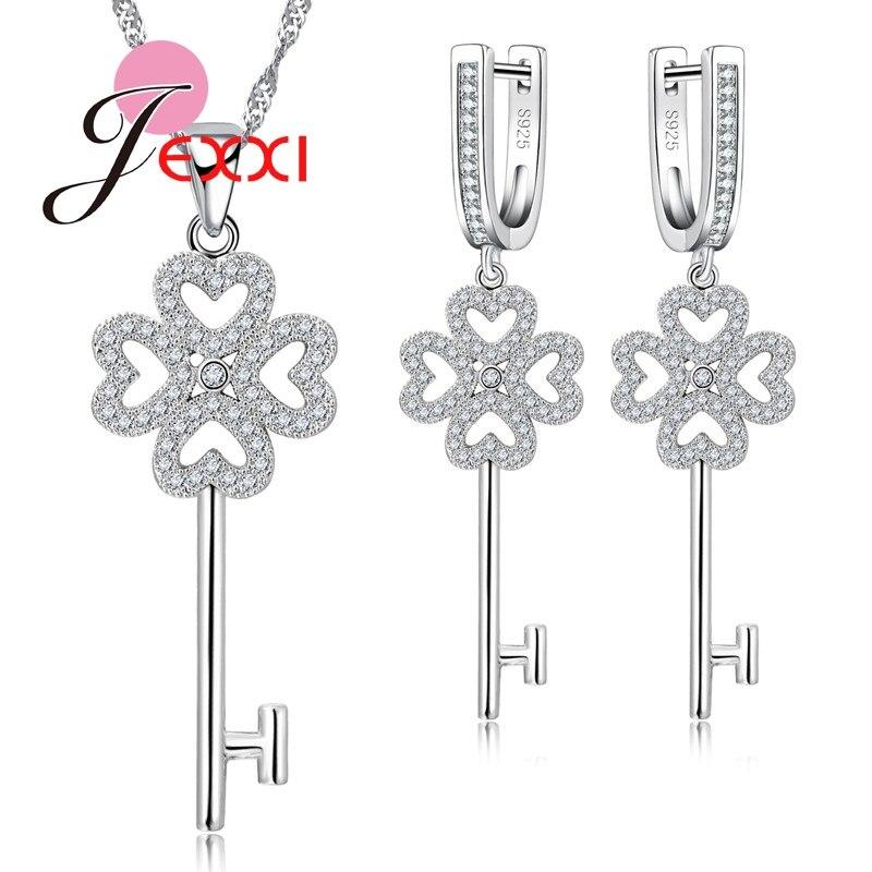 JEXXI font b Luxury b font Bridal Wedding Engagement font b Jewelry b font Set For