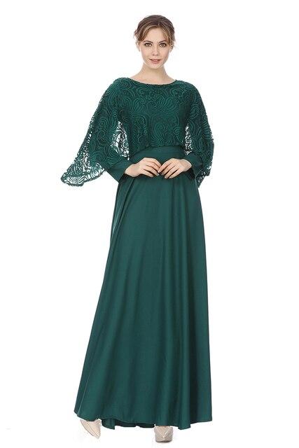 Lace Cloak Cape Poncho Neck Muslim Dress Big Size Lady Chiffon