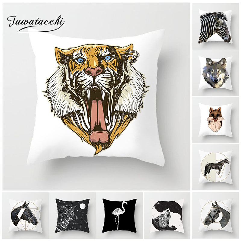 Cheval /& Zebra Pillow Case Polyester Animal Canapé Voiture Throw Cushion Cover Home Decor