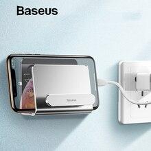 Baseus Алюминиевый держатель для телефона для iPhone Xs Max настенный держатель клейкая Подставка для мобильного телефона держатель для redmi note 7