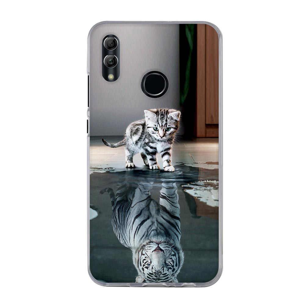 Kapak için Huawei P akıllı 2019 kılıf lüks kalp baskı kılıfı için Huawei P20 p10 Lite onur 9 10 Lite y5 2018 telefon kılıfları