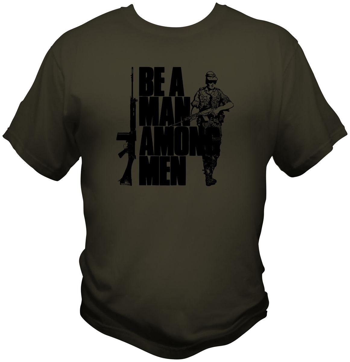 FN FAL Ein Mann Unter Männer T-shirt Rhodesian Fremdenlegion Britischen L1A1 Gewehr