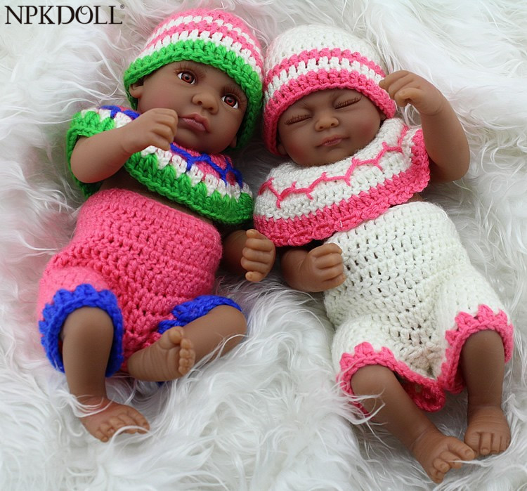 NPKDOLL African American Black Reborn Baby Dolls Silicone Soft Vinyl Realistic Fake Babies Bebes Reborn Christmas Toys Gift-in Dolls from Toys & Hobbies    1