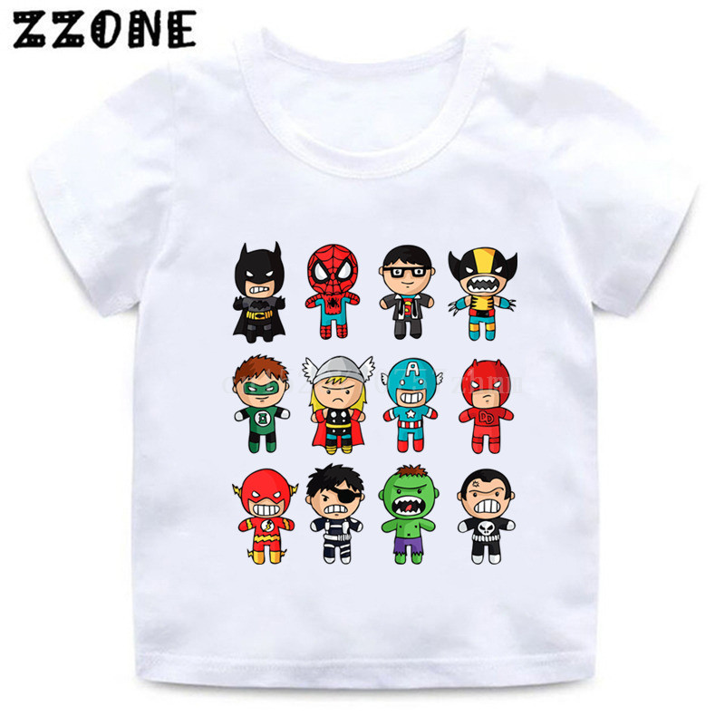 c365b8738 Boys/Girls Avengers Super Hero Cartoon Print T shirt Kids Marvel Funny  Clothes Children Summer