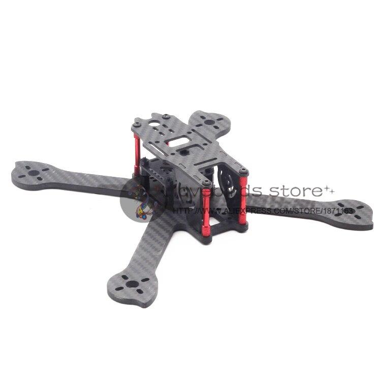 DIY mini FPV drone LBS-IX5 210mm 5 pure carbon fiber frame unassembled rc quadrocopter mini drone 210mm 210 pure carbon fiber drone dron helicopter frame kit motor cover for lisam qav210