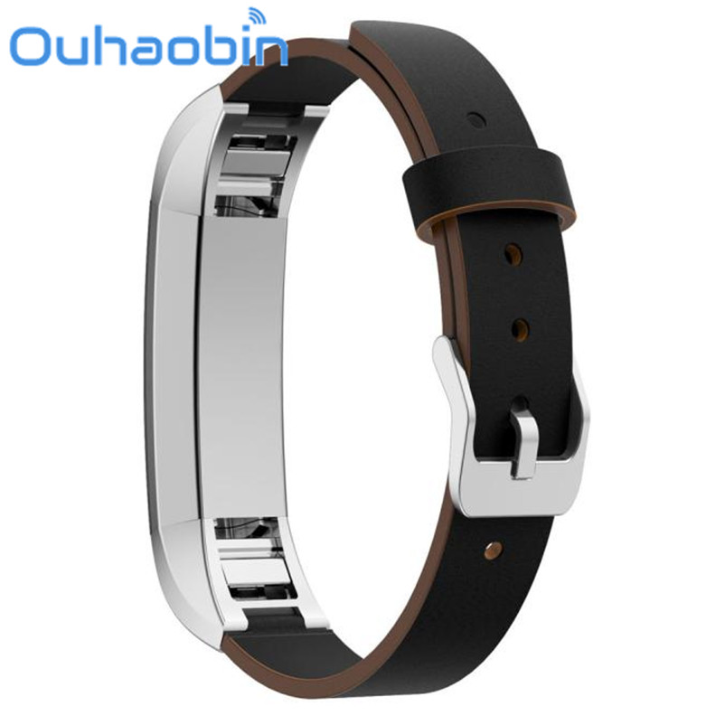 Ouhaobin 170-206mm Replacement Luxury Genuine Leather Band Strap Bracelet For Fitbit Alta Tracker Gift Oct 26 Dropship