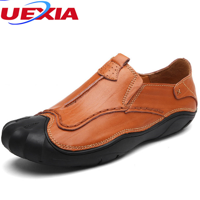 New Fashion Causal Leather Flats Driving Loafers Men Shoes High Quality Sport Outdoor Shoes Non-slipper Moccasins Zapatos Hombre genuine leather shoes men top quality driving flats shoes soft leather men shoes loafers moccasins breathable zapatos hombre