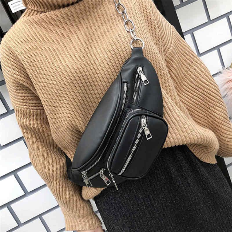 สีดำ Faux หนังเอวกระเป๋าโทรศัพท์มือถือกระเป๋าเข็มขัด Fanny Pack Bum กระเป๋าสำหรับผู้หญิงผู้ชาย