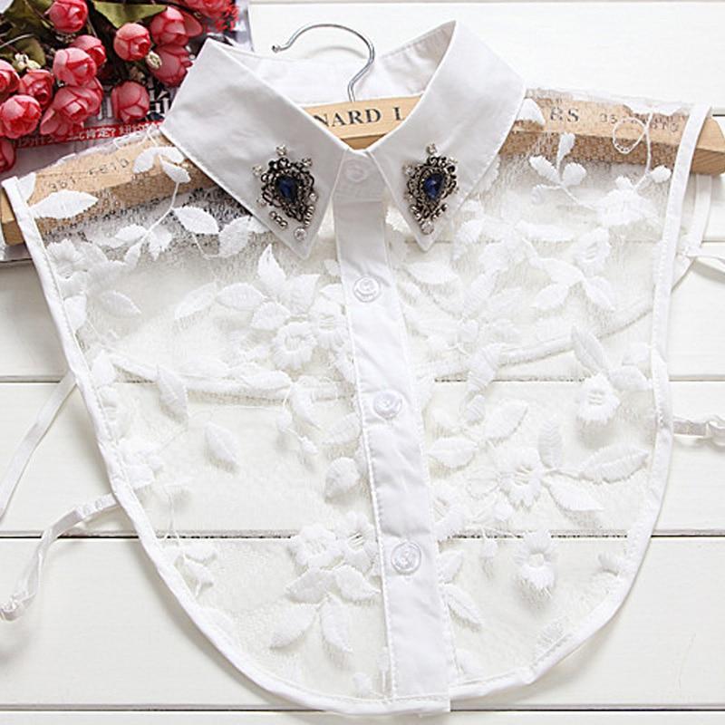 Bijela dama ukrasni pribor Rhinestones Bijela pamučna košulja Fine - Pribor za odjeću - Foto 1