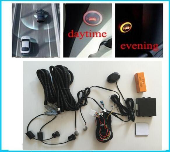 Car Blind Spot Rear Parking Sensors Assistance System For Auto Radar Backup Kit 2 Reverse Sensors