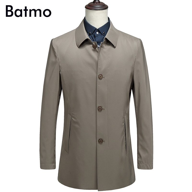Batmo 2018 new arrival spring high quality smart casual   trench   coat men,men's casual jacket ,size M to XXXL 1902