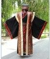 Китайский национальный hanfu черный древний китайский костюм hanfu мужская одежда Традиционная Национальная Тан Костюм этап Косплей Костюмы GZ1