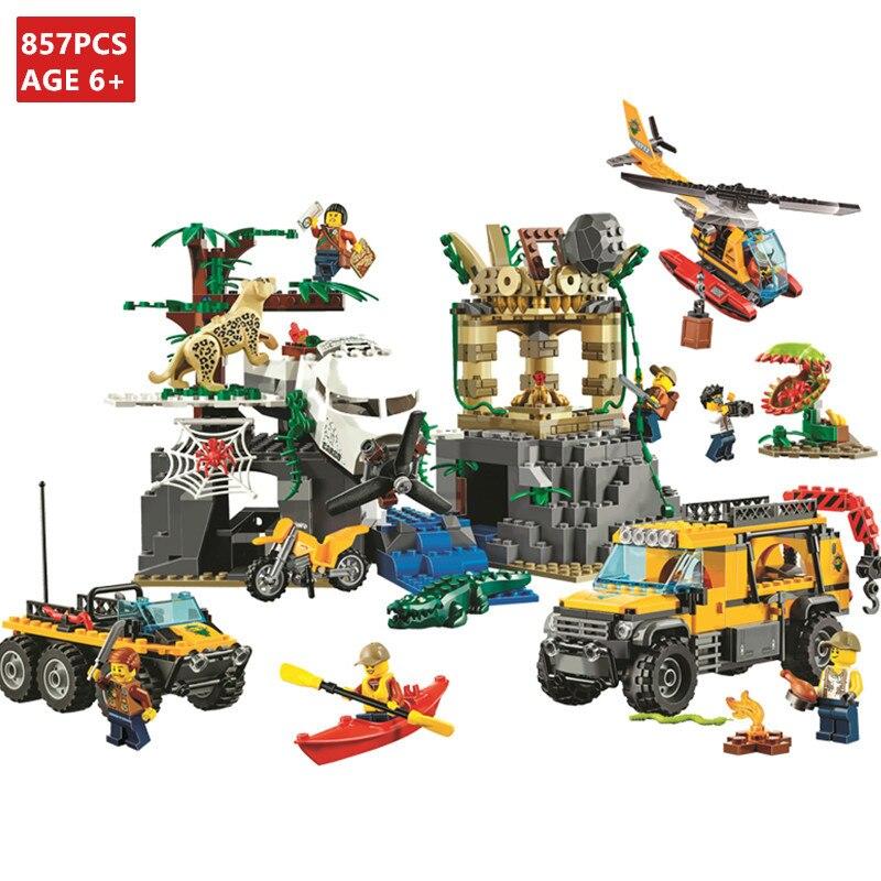 Jungle Mobile Laboratory 460pcs Building Blocks Bricks toys no box