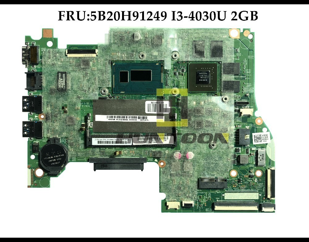 FRU 5B20H91249 FOR Lenovo Flex3 1570 Yoga 500 15IHW Laptop Motherboard SR1EN I3 4030U DDR3 2GB