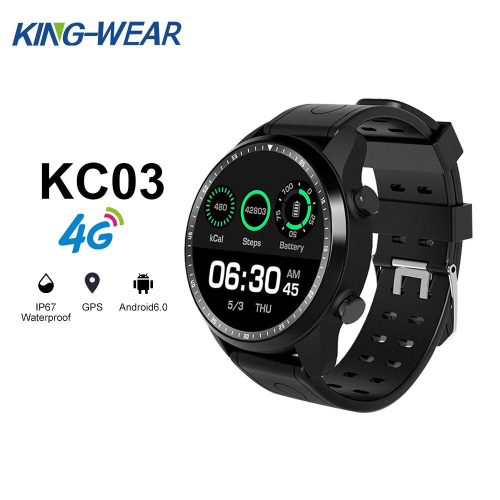 KINGWEAR KC03 4G Smartwatch Phone Android 6.0 MTK 6737 1.3 inch Men Call 1GB+16GB IP67 Waterproof Sport Modes SmartwatchKINGWEAR KC03 4G Smartwatch Phone Android 6.0 MTK 6737 1.3 inch Men Call 1GB+16GB IP67 Waterproof Sport Modes Smartwatch