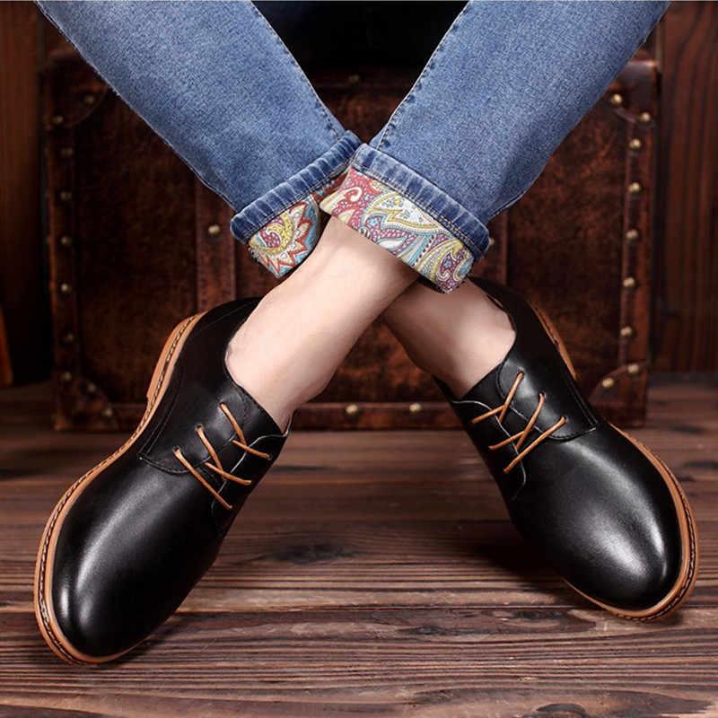 Büyük Boy Yeni Varış Bölünmüş Deri Erkek rahat ayakkabılar Moda En Kaliteli Sürüş Moccasins Loafer'lar Üzerinde Kayma Erkekler düz ayakkabı yeni