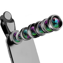 7 In 1 Phone Camera Lens Kit Fish Eye/Wide Angle/Macro Lens/CPL Set for iPhone Huawei LSMK99(China)