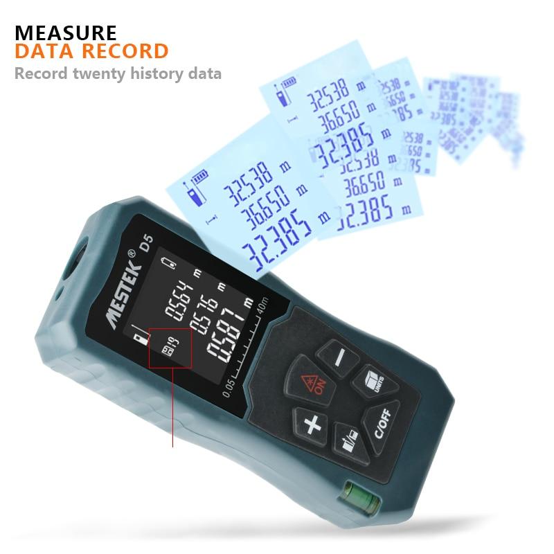 Image 5 - MESTEK Laser Distance Meter 40/60/100m Laser Meter Trena a Laser Range Finder Metro Laser Build Measure Device Ruler Test Tool-in Laser Rangefinders from Tools