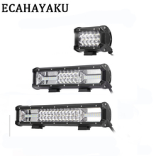 цена на ECAHAYAKU 15 inch 162W 4'' 11'' 15'' off-road led light bar 12V 24V Spot Flood led Work Light for Jeep Car 4WD Truck 4x4 SUV ATV