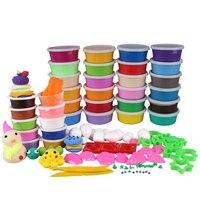 24 צבעים DIY רך פולימרי מידול קליי סט עם כלים אוויר יבש חבילה טובה פימו אפקט צעצועים מיוחדים בלוקים מתנה לילדים