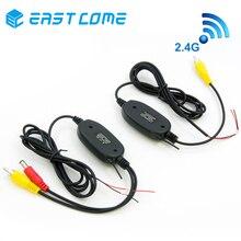 Il trasporto Libero, 2.4 Ghz Wireless Camera RCA Video Trasmettitore e Ricevitore Kit Per Auto Telecamera Posteriore e TFT Parcheggio Monitor