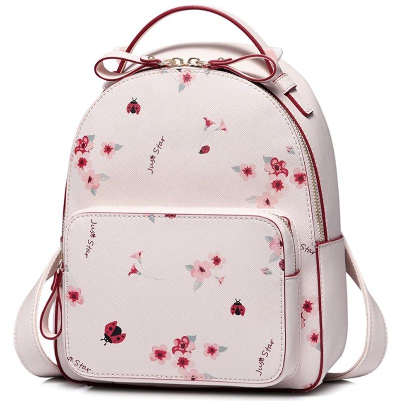 BEAU-JUST STAR sac à dos en simili cuir polyuréthane femmes mode Floral imprimé sac à bandoulière dame romantique rose printemps voyage sac à dos