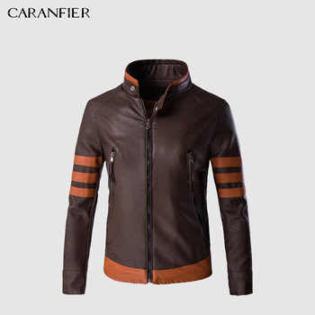 CARANFIER Mens Leather Jackets Men Faux Fall Winter Coats Punk Motorcycle Biker Male Suede Jacket Windbreaker Bike Riding Coat - DISCOUNT ITEM  44 OFF Men\'s Clothing