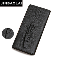 JINBAOLAI Brand Leather Wallet With Zipper Hasp Wallets For Men Carteras Solid Coin Purses Soft Leather