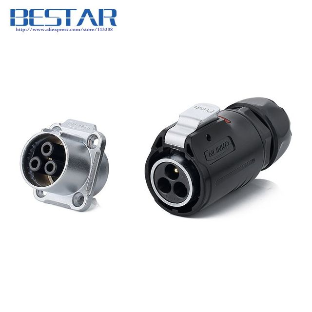 Pleasant Outdoor Ip65 Ip67 3Pin 24Mm Wiring Clamp Connector Waterproof Wiring Cloud Mangdienstapotheekhoekschewaardnl