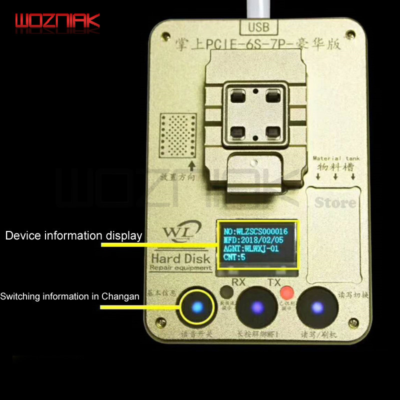 Wozniak WL PCIE NAND Flash ic chip för iphone SE 6s 6sp 7 7P PRO ard - Verktygssatser - Foto 3