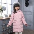 Winter Jacket for Girls 2016 New Duck Down Kids Winter Warm Coats Girls Multicolor Parka Children Winter Stripe Hooded Outerwear