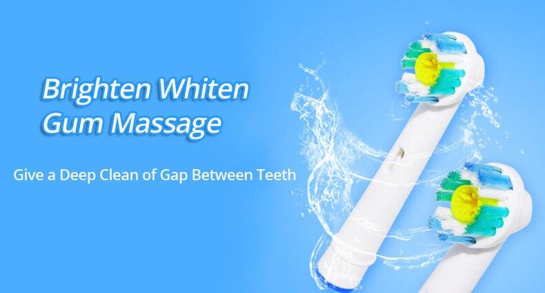 Oral b escova de dente elétrica, cabeças